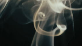 Beautiful dance of smoke stock footage