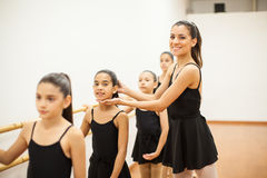 Beautiful dance teacher at work Stock Photos