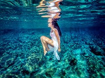 Beautiful dance underwater Royalty Free Stock Photography