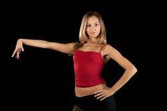 Beautiful dancer in art costume. Royalty Free Stock Photo