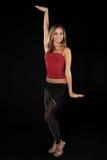 Beautiful dancer in art costume. Royalty Free Stock Photos