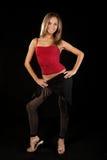 Beautiful dancer in art costume. Stock Images