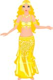 Beautiful dancer of belly dance Royalty Free Stock Images