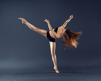 Beautiful dancer dancing dance ballet contemporary style Stock Images