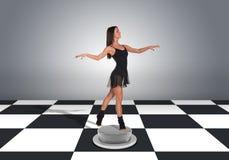 Beautiful dancer dancing Stock Images