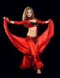 Beautiful  dancer in eastern  costume Royalty Free Stock Photos