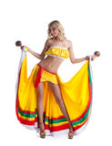 Beautiful dancer in mexican costume Royalty Free Stock Images