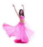 Beautiful dancer in pink costume - oriental dance Stock Images