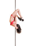 Beautiful dancer on the pole Royalty Free Stock Photos
