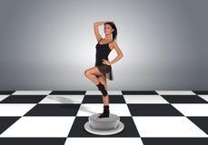 Beautiful dancer posing and looking at camera Royalty Free Stock Photo