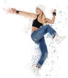 beautiful dancer posing in studio Stock Photography