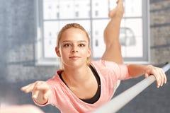 Beautiful dancer practicing Stock Photo