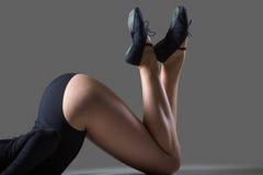 Beautiful dancer training, close-up Stock Photos