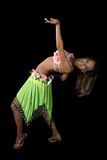 Beautiful dancer in tropical costume. Royalty Free Stock Photo