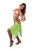 Beautiful dancer in tropical costume. Royalty Free Stock Photos