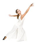 Beautiful dancer in tunic. royalty free stock photography