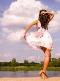 Beautiful dancer in the wild outdoors Stock Photos