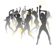 Beautiful dancers background Royalty Free Stock Photos