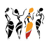 Beautiful dancers silhouette Royalty Free Stock Photography