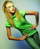 Beautiful dancing female. stock photography