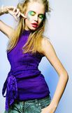 Beautiful dancing female. royalty free stock photography