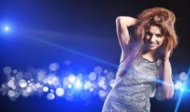 Beautiful dancing girl Stock Photography