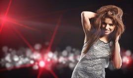 Beautiful dancing girl Royalty Free Stock Images