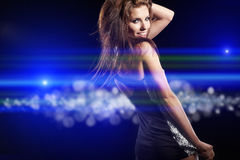 Beautiful dancing girl Royalty Free Stock Photos