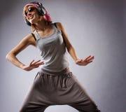 Beautiful dancing girl Stock Photos