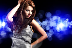 Beautiful dancing girl Stock Photos