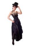 Beautiful Dancing Girl In Hat Royalty Free Stock Image