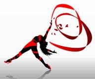Beautiful dancing girl. Royalty Free Stock Images