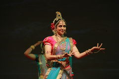 Beautiful dancing Indian woman Royalty Free Stock Photos
