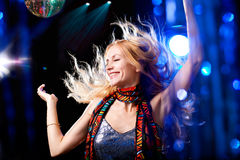 Beautiful dancing woman Stock Photography