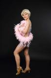 Beautiful dancing woman posing Stock Images