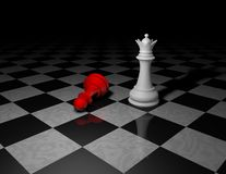 Beautiful dark background with chess pieces in shadow Royalty Free Stock Images