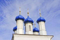 Beautiful dark blue domes Royalty Free Stock Images