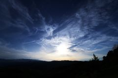 The beautiful Dark Blue Sky Royalty Free Stock Images