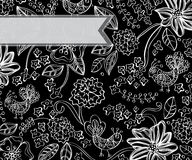 Beautiful dark floral background Stock Photography