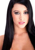 Beautiful dark hair woman Royalty Free Stock Images