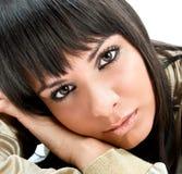 Beautiful dark hair woman posing Stock Photos