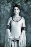 Girl in medieval dress Royalty Free Stock Photo