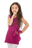 Beautiful dark-haired little fashionable girl Royalty Free Stock Images