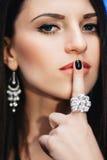 Beautiful dark-haired woman Royalty Free Stock Photo
