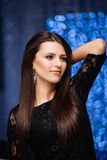 Beautiful dark-haired woman Royalty Free Stock Photography