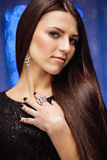 Beautiful dark-haired woman Royalty Free Stock Images