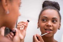 Beautiful  dark skinned girl  Stock Photo