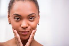 Beautiful  dark skinned girl  Royalty Free Stock Photo