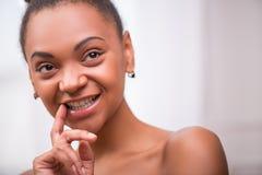 Beautiful  dark skinned girl  Royalty Free Stock Image