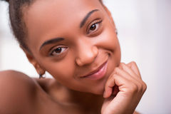 Beautiful  dark skinned girl  Stock Images